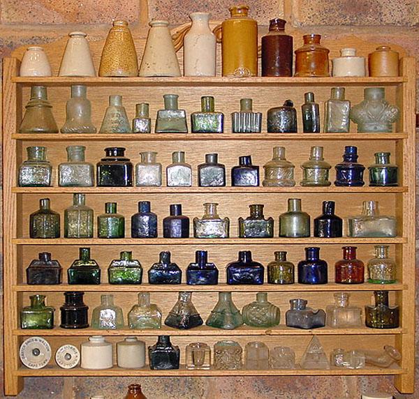Brilliant Antique Bottles Inks Interior Design Ideas Ghosoteloinfo
